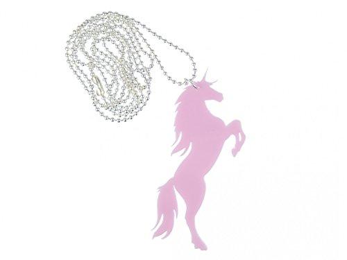 Miniblings Unicornio Collar de Cadena Forestal 80cm fantasía Unicon fantasía con Laser...
