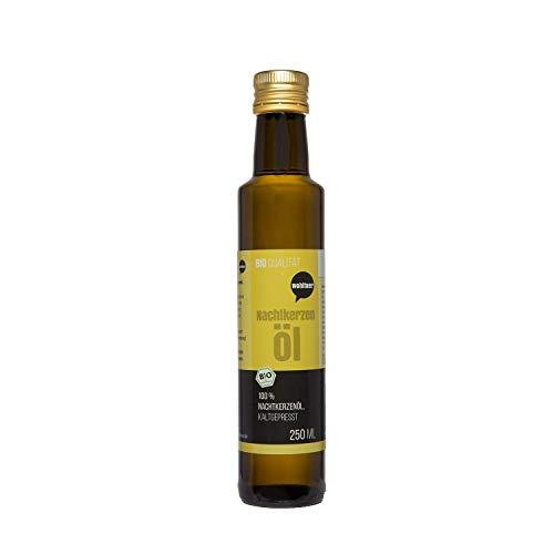 Wohltuer Bio Nachtkerzenöl 250ml - Nativ gepresst und 100% rein - Natur pur (250ml)