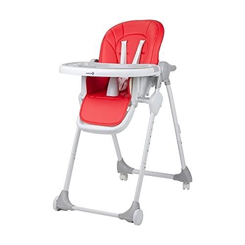 Safety 1st Looky Seggiolone pappa pieghevole con imbottitura, Reclinabile, per bambini 6 mesi -3 anni, colore Red Campus