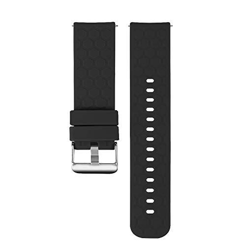 Correas de repuesto compatibles con Umidigi UFit, Tencloud, correa de silicona suave, transpirable, accesorio para reloj inteligente UFit/Uwatch 3/Uwatch GT (negro)