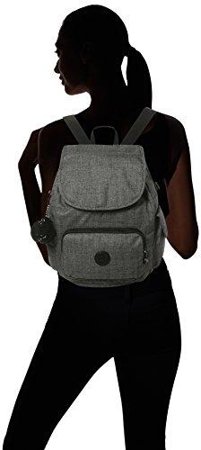Kipling City Pack S, Women's Backpack, Grey (Cotton Grey), 32x37x19 cm (B x H x T)