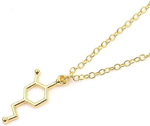 duoyunxiayu Collar Boho Fórmula química 5-HT Collares Pendientes Joyería eterna Collar Gargantilla de Memoria Collar de ADN Enfermera Doctor Joyería Regalo