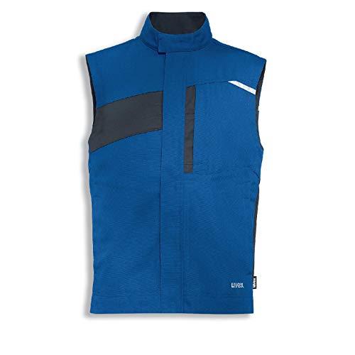 Uvex Perfexxion Premium Herren-Arbeitsweste - Blaue Männer-Weste - Vielfältige Taschen 6XL