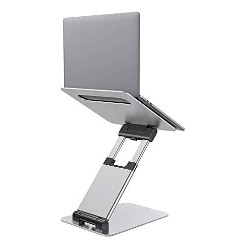 """Supporti per Notebook Supporto per Laptop, Supporto per Laptop Ergonomico Portatile Seduto E in Piedi, Altezza Regolabile da 2,1""""a 13,8"""", Compatibile con Tutti I Tablet da 10-17"""" (Color : Silver)"""