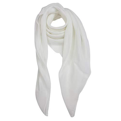 Superfreak Baumwolltuch - Tuch - Schal - 100x100 cm - 100% Baumwolle Farbe Weiss