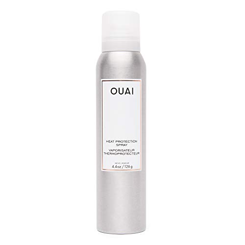 OUAI Heat Protection Spray. An Incredible Multi-Purpose Priming Spray that Provides Heat Protection against heat & styling tools up to 450 degrees Fahrenheit. Great for Colored Hair and All Hair Types