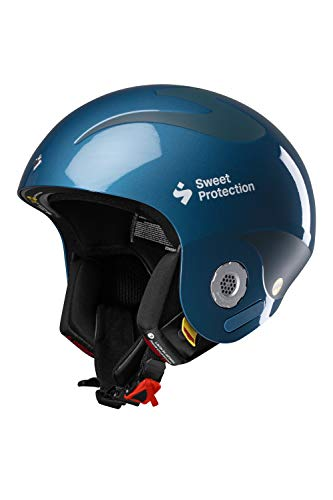 Sweet Protection Casque de Ski/Snowboard Mixte Adulte Volata MIPS Bleu Sarcelle métallisé