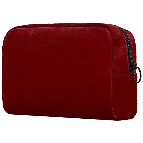 KAMEARI Kosmetiktasche dunkelrotes Muster große Kosmetiktasche Organizer Multifunktionale Reisetaschen