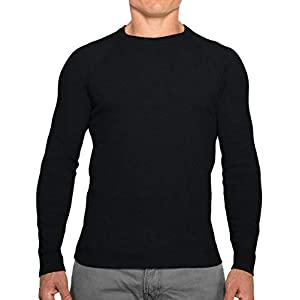 CC Perfect Slim Fit Crewneck Sweaters for Men | Lightweight Breathable Mens Sweater | Soft Fitted Pullover for Men