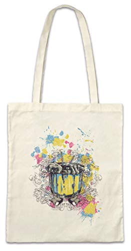 Urban Backwoods Color Pot with Zombie Hands Hipster Bag Beutel Stofftasche Einkaufstasche