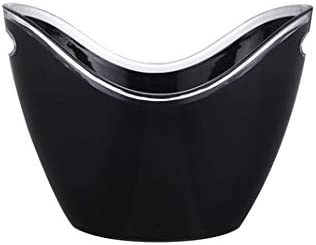 WJCCY Black Ice Bucket with Handle Luxury goods Beer Do Wine for Champagne Fees free