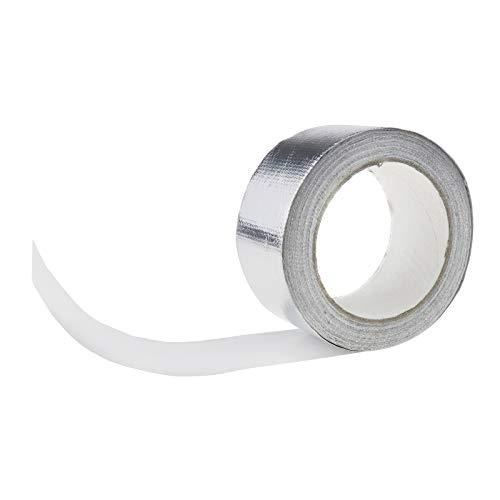 Enet Hitzeschutzband aus Aluminium, verstärkt, widerstandsfähig, Abgasrohrisolierung
