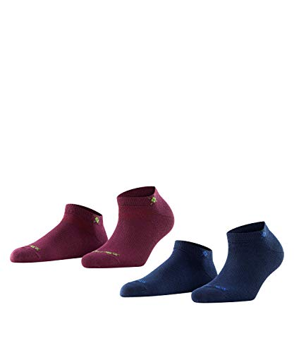 BURLINGTON Damen Sneakersocken Everyday 2-Pack - Baumwollmischung, 2 Paar, Rot (Classico 8710), Größe: 36-41