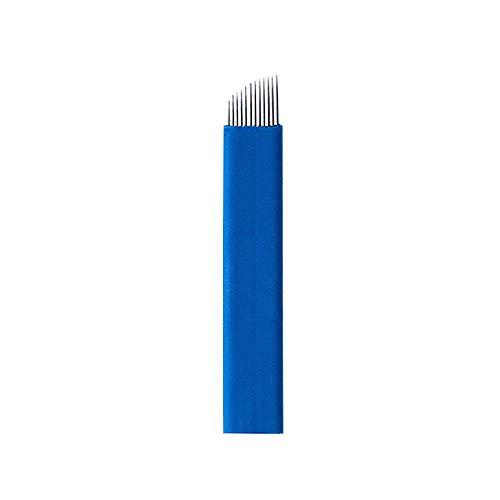 Pinkiou 12 Pin Microblading Needles Color de cejas Maquillaj