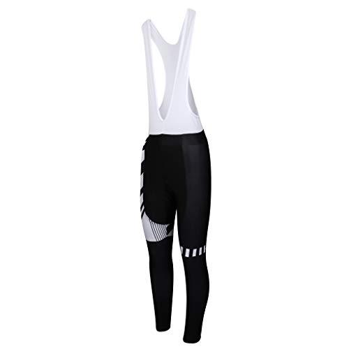 perfeclan Medias de Ciclo del Babero del Funcionamiento para Hombre, Ropa Rellenada 3D de Los Pantalones del Ciclo de La Bici de MTB - XL