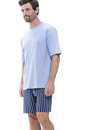Mey Night Basic Lounge Herren Homewear Shirts Blau 5XL