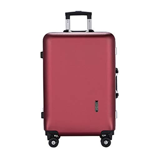 Telescopic suitcase Men's Business Suitcase Aluminum Frame Trolley Luggage 20/24 Inch Suitcase Wear-resistant Non-slip Suitcase Lightweight suitcase (Color : C5, Size : 20inch)