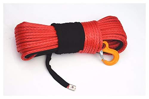 Canal de televisión británico Red 10mm * Cable de cabrestante sintético de...