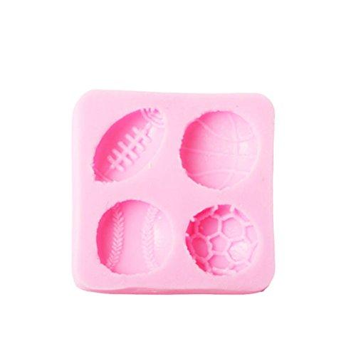 Drawihi Fußball Baseball Basketball Silikonform Biskuit Kuchen Schokoladenkuchen Silikonformen Pralinen Backform 5.6 * 5.6 * 1.1 cm