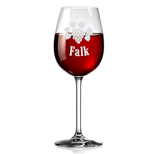 polar-effekt Leonardo Weinglas Personalisiert mit Gravur - Personalisierte Geschenk - Graviertes Rotwein-Glas 460ml - Motiv Weinrebe