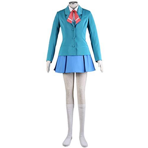 YYFS Juego Anime Cosplay Disfraces, Uniformes de Fiesta de Halloween y Personajes de Dibujos Animados cmicos Disfraces de Cosplay, Chaquetas Azules, Faldas, Camisas y Accesorios,Clothing Suit-Small