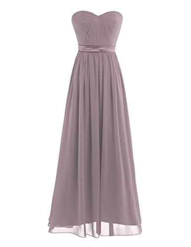 iEFiEL Elegant Damen Kleider festlich Cocktailkleid Chiffon Maxikleid Lang Brautjungfernkleid...