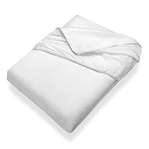SETEX Kalmuck Matratzenschutz, Spannbetttuch, 180 x 200 cm, Classic, Weiß, 2408180200541002