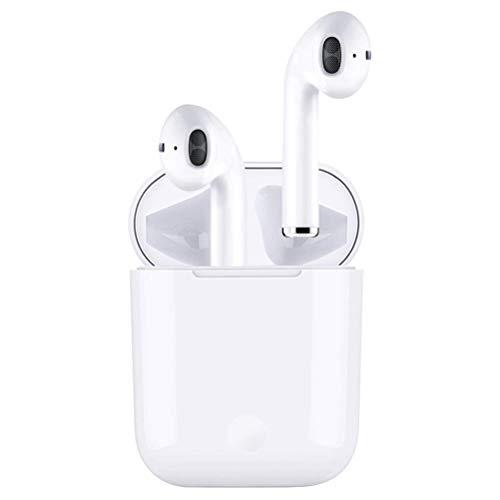 Auriculares Bluetooth 5.0, Auriculares inalámbricos, Control táctil, micrófono Incorporado y Caja de Carga, reducción de Ruido estéreo 3D HD, Adecuado para Android/iPhone/AirPods/Samsung