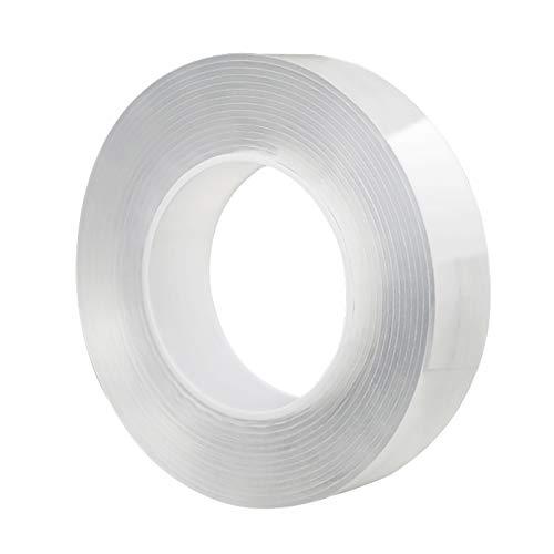 Nano Tape Gel Grip Traceless Adhesivo de doble cara, lavable para alfombras,...