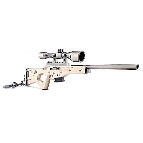 Portachiavi a forma di fucile AWP da cecchino, in metallo, modellino artistico in miniatura, in scala 1:6, giocattolo da collezione, ottima idea regalo
