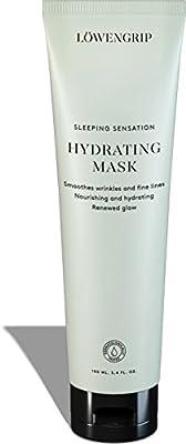 Löwengrip, Sleep Sensation Hydrating Mask - Hyaluronic Acid & Allantoin. Smooths lines, wrinkles, moisturizes & repairs. Fragrance Free. All skin types + sensitive. 100 ml from Lwengrip
