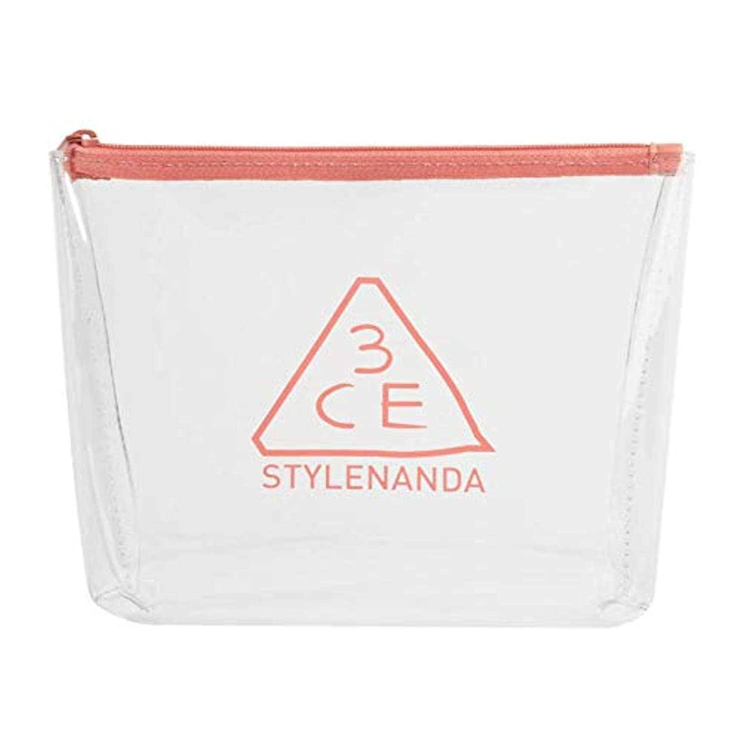 3CE クリアトラペーズポーチ CLEAR TRAPEZE POUCH #PINK BEIGE [並行輸入品]