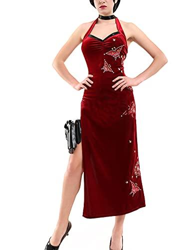 R-eS-iDe-Nt E-Vi-L 5 Cosplay Kostüm - Damen Cosplay Outfit Cheongsam Tägliches Kostüm Halloween Karneval Party Anzug für Mädchen