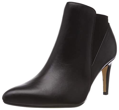 Clarks Damen Laina Violet_Stiefeletten Kurzschaft Stiefel, Schwarz (Black Leather), 39 EU