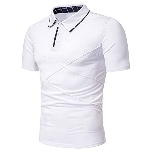 SSBZYES Camisetas Polo De Verano para Hombre Camisetas para Hombre Camisetas De Manga Corta para Hombre Moda Moda Costura Doblada Camisetas De Manga Corta Solapa Camisetas De Tamaño Europeo