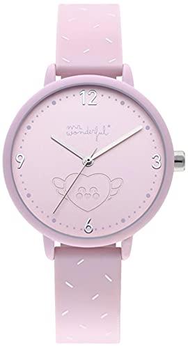 Mr wonderful Wonderful Time Reloj para Mujer Analógico de Cuarzo con Brazalete de Plástico WRLOVE3