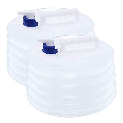 2 conteneurs à Eau/réservoirs d'eau Portables Pliables de 5 litres - Parfait pour Le Camping, la randonnée, l'escalade, Les Voyages et Les activités en Plein air, bidon Eau Pliable