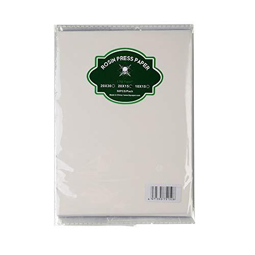 wonbest Kolophonium-Presspapier 7,87 x 5,9 Zoll Wachskonzentrate Ölbankfilterpapier zum Extrahieren von Werkzeugmaschinen(50 STÜCKE pro Packung)