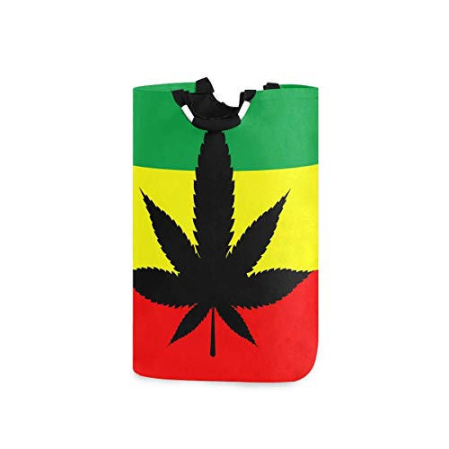 N\A Cesto de Ropa, Marihuana Hojas de cáñamo Hoja Cesto de la Ropa Lavado de la Ropa Cesto de Almacenamiento Plegable Bolsa de Compras Plegable Porta Libros de Juguete