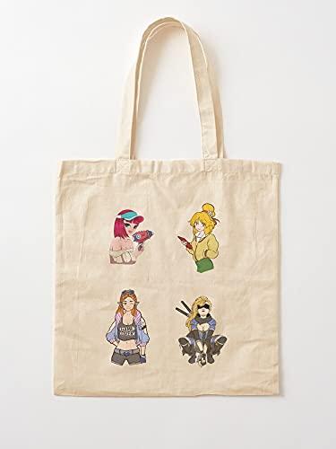 Générique Pack Cartoon Hero Cute Character Funny Popular Beautiful | Einkaufstaschen aus Segeltuch mit Griffen, Einkaufstaschen aus nachhaltiger Baumwolle
