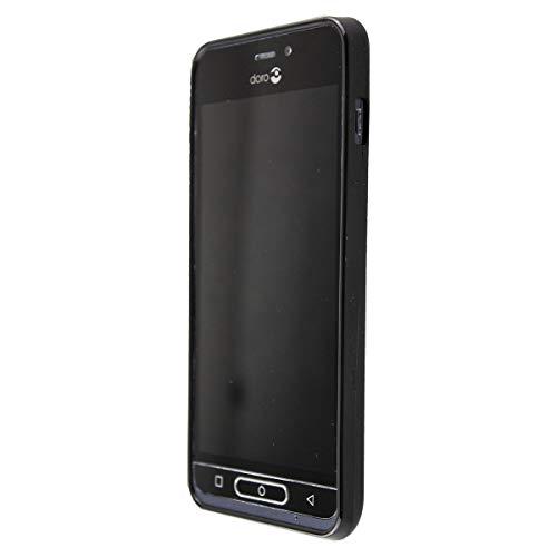 caseroxx TPU-Hülle für Doro 8035, Hülle mit & ohne Bildschirmschutzfolie (TPU-Hülle, schwarz)
