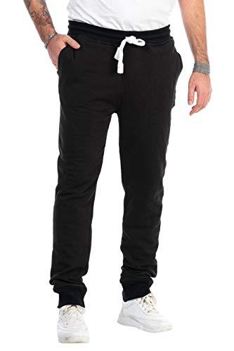 KENNY BROWN Herren Fitness-Hose lang, Jogginghose, elastische Sporthose Slim Sweat-Pants Trainingshose 518 (Schwarz, S)