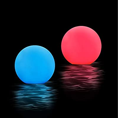 Oralys LED Floating Pool Lights - 3 inch RGB Color Changing LED Ball Pond Lights with Timer, IP67 Waterproof Keep Nice Atmosphere for Pools, Bathtubs, Party, Home Décor, Kids Night Light Toys