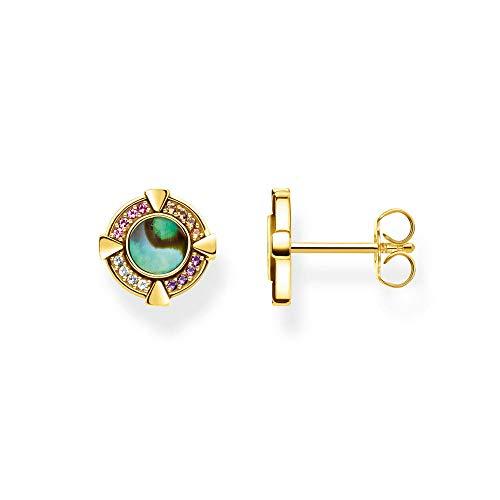 Drop Earrings For Women Gold Studs Earrings Europe Bohemia Artistic Happy Jewerly For Women Gift 925 Sterling Silver