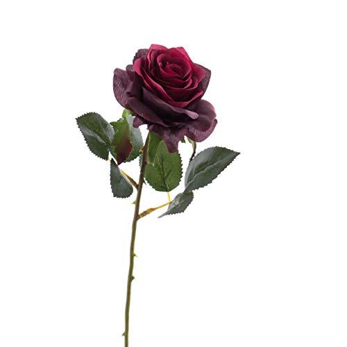 72 x Rose//boutons de rose rouge//bordeaux Art Fleurs-Soie Fleurs