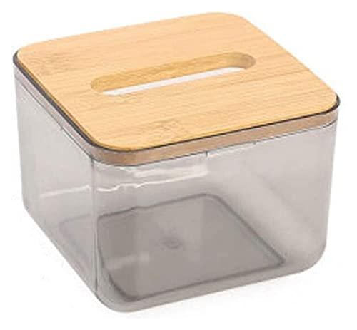 STBAAS Cubierta de dispensador de Tejido de baño de acrílico Transparente/Caja de Tela Decorativa Caja de Tela/Carré Caja de Caja Caja de pañuelos (Color : B)