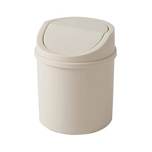 BTKDIDDDDD Bins Bins Wasbage Can Basura Mini Flip Basura Can Tube de Almacenamiento Multifunción Canasta