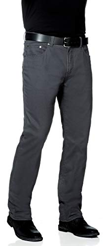 Tom Ramsey Herren Thermo-Stretchhose mit weichem Fleece gefüttert in Grau, Herrenhose in Jeanshosen-Optik, warm durch den Winter (Göße: 24-30, 48-60)