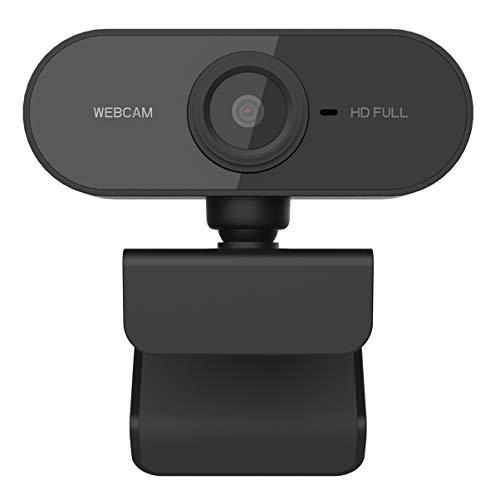 Lurrose 1080P Usb Webcam Computador Hd Streaming Camera Foco Automí¡tico Com Microfone para Pc Desktop Laptop Escritório Escola Casa (Preto)