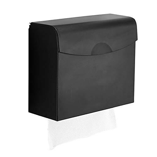 ペーパーホルダー 壁掛け ペーパーケース 携帯電話置き ペーパータオル収納 上 下 片手で切れる ペーパーディスペンサー キッチン・トイレ・洗面所用